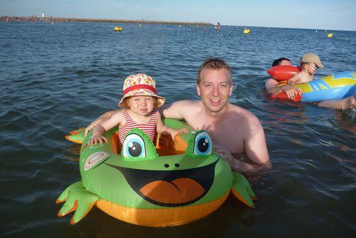 Faire un tour de bateau avec papa...
